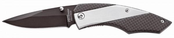 """Metmaxx® Taschenmesser """"SliderProCarbon"""" schwarz/silber"""