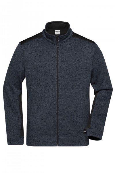 Men's Knitted Workwear Fleece Jacket - STRONG -